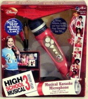 New Disney High School Musical Karaoke Microphone Red