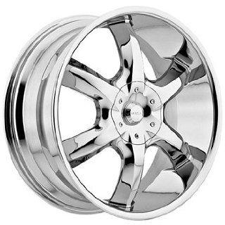 Akuza Lucuna 22x8.5 Chrome Wheel / Rim 5x115 & 5x120 with a 35mm