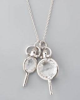 Monica Rich Kosann Mini Pocketwatch Key Necklace