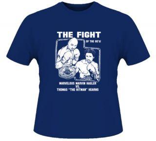 Hagler vs Hearns Fight Card Boxing T Shirt