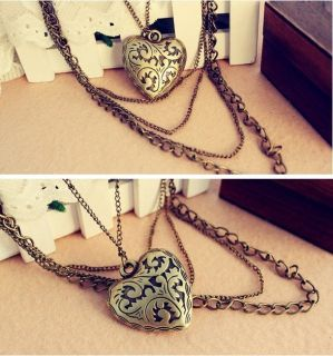 Heart shaped fashion pendant classical style multi layered necklace