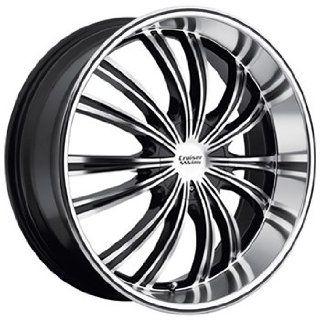 Cruiser Alloy Shadow 20x9 Machined Black Wheel / Rim 5x115 & 5x5 with