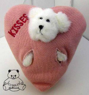 Kisses Heart Bear Boyds Plush Stuffed Animal Pink New
