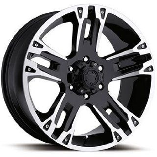 Ultra Maverick 17x8 Black Wheel / Rim 6x5.5 with a 0mm Offset and a