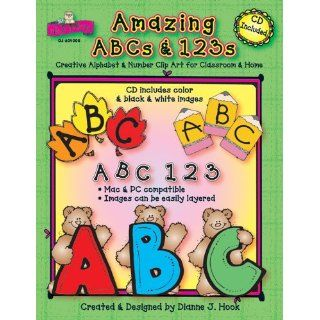 Amazing ABCs and 123s: Creative Alphabet & Number Clip Art for