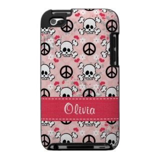 Pink Skull and Crossbones iPod Touch Case Cover 4g