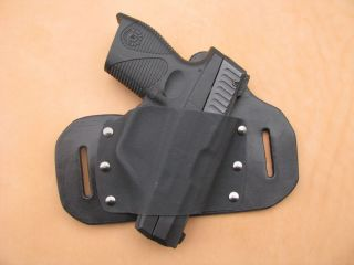 Leather Kydex Beltslide Holster for Taurus 709 Slim 9mm or 740 Slim 40