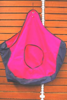 Vinyl Hay Bag Hot Pink Purple Edges