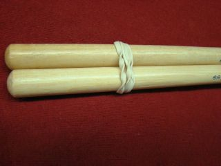 Vintage Ludwig 6A  Wood Tip Hickory Drum Sticks 1970s