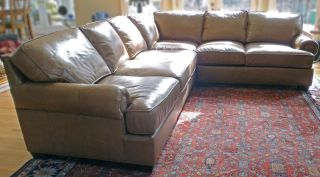 King Hickory Leather Sectional Sofa