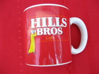 HILLS BROS COFFEE CUP HILLS BROS COFFEE MUG~IM WORLD CLASS
