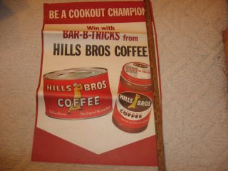 Vintage Hills Brothers Coffee Store Poster with Cans
