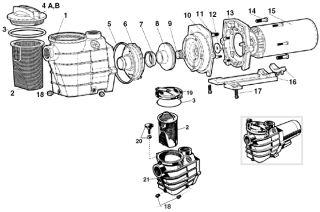 Hayward Super II Pool Pump Seal O Ring Parts Kit