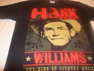 HANK WILLIAMS THE KING OF COUNTRY MUSIC T SHIRTMEDIUM EXCELLENT