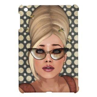 Belinda Beehive Retro Chic iPad Mini Cases
