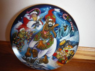 HANNA BARBERA LIMITED EDITION 1998 PLATE SCOOBYS CHRISTMAS DREAM