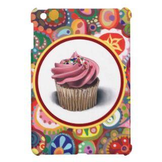 Pink Cupcake Colorful Abstract iPad Mini Case