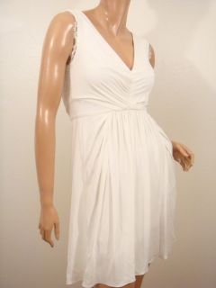 New BCBG White Jersey Lace Detail Dress s $298