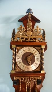 Antique German Carl Werner Wall Clock At 1900 With R A