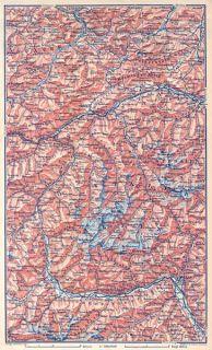 Austria 1911 Otztaler 200 Historical Old Map Alps Österreich