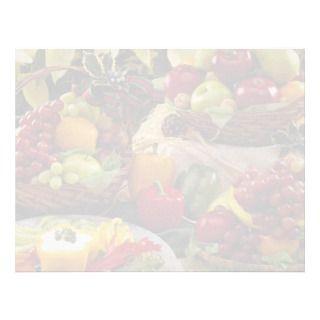 Holiday fruit baskets letterhead design