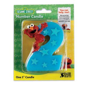 Sesame Street Elmo Number 2 Birthday Cake Candle Toys