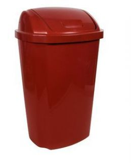 Hefty 13 5 Gallon Swing Lid Trash Practical Tall Home Kitchen Can Red