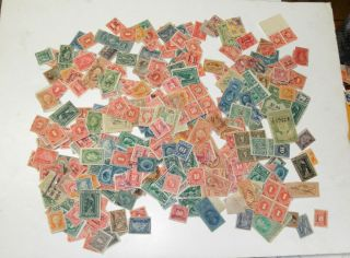 Mixed Lot of 374 Revenue Stamps Documentary Stock Transfer Wines