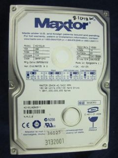 Lot of 4 Maxtor 4G160J8 160GB 5400RPM Ultra ATA/133 IDE Hard Drives