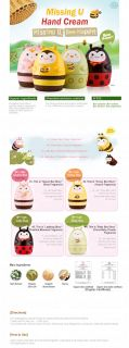 Etude House Missing U Hand Cream #2 Honey Bee Story Acacia Fragrance
