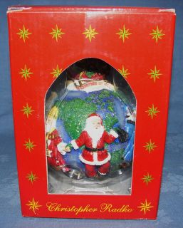 CHRISTOPHER RADKO CHRISTMAS ORNAMENT ~ SANTAS AROUND THE WORLD ~ NEW