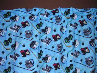 Ice Hockey Sports Gear Valance Curtain Select Fabric