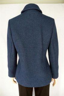 Hilary Radley Sz 6 Navy Blue Boiled Wool Peacoat Coat