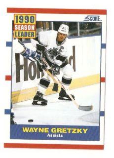 1990 91 Wayne Gretzky Score Hockey Trading Card 352