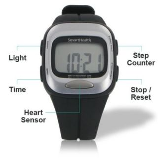 Smart Health Walking Heart Rate Monitor Watch Step Counter All in One