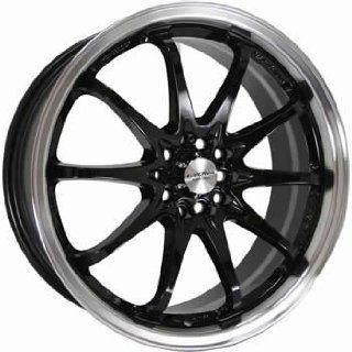 Kyowa 206 18x7.5 Black Wheel / Rim 4x100 & 4x4.25 with a 45mm Offset
