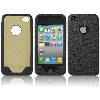 Cellet Black Premium Leather Case For Apple iPhone 4 Cell