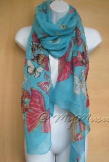 Multiple Butterfly Print Womens Scarf Ladies Nice Festive Fashion