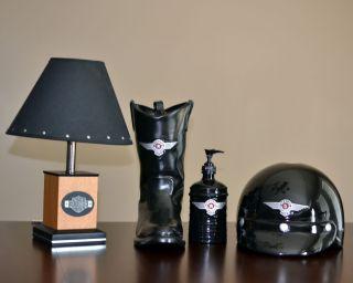 Harley Davidson Bathroom / Decor Set plus Lamp   Tissue Holder   Soap