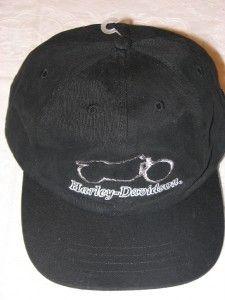 Harley Davidson RARE Motorcyle Outline Hat Cap New