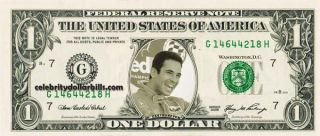 INDY DRIVER HELIO CASTRONEVES #1 DOLLAR BILL UNCIRCULATED MINT US