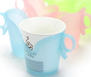 Disposable paper cup holder handle heat insulation supporter handgrip