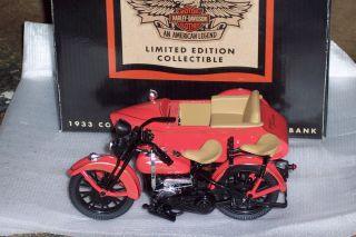 Harley Davidson Motorcycle Sidecar Bank NIB 1 12 Scale