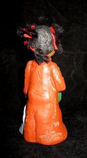 Signed Martha Holcombe   All Gods Children #1343 Prissy (Yarn Hair