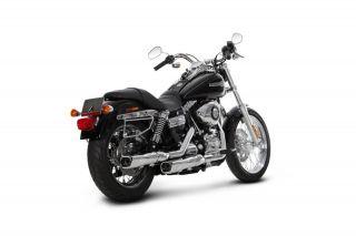 06 12 Harley FXDB Street Bob Akrapovic Dyna Dual Slip Ons   Chrome