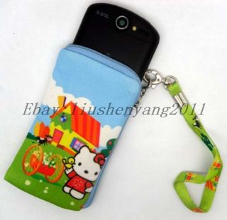 New Hello kitty Multi Purpose Mobile Cell Phone Bag Nylon Case Pouch 7