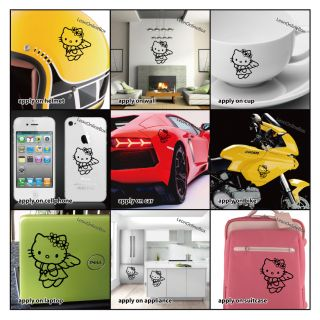 Hello Kitty Angel   Cartoon Decal Vinyl Car Wall Laptop Cellphone