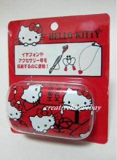 japan sanrio hello kitty red cell phone earphone case
