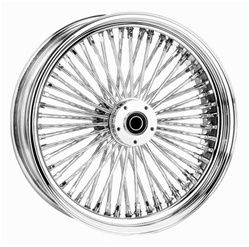 23 X 3 5 52 SPOKE MAMMOTH FLH FLT FRONT WHEEL W CHROME RIM HUB