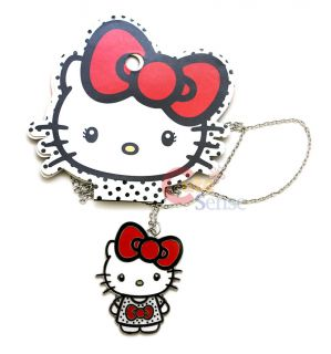 Sanrio Hello Kitty Necklace  Big Kitty with Red Bow LoungeFly